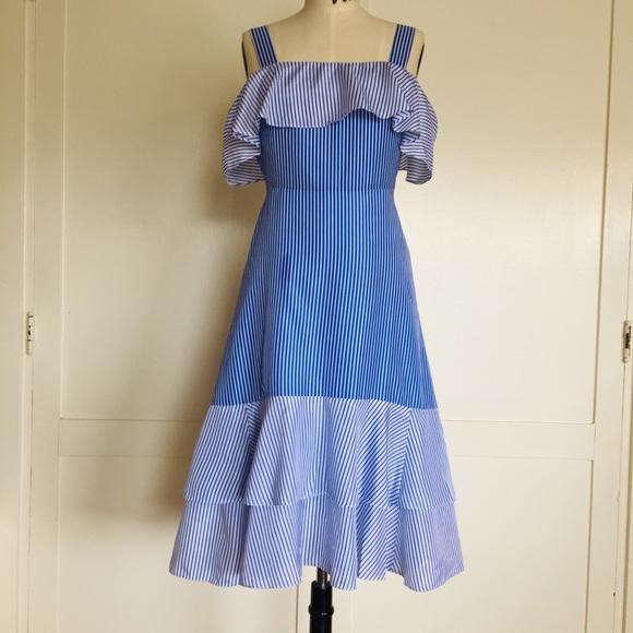 J. Crew Dresses & Skirts - J. Crew Silk Cold Shoulder Flutter Midi Dress